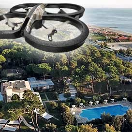 Guarda il Video fatto con il drone - Hotel Villa Elsa a Ronchi