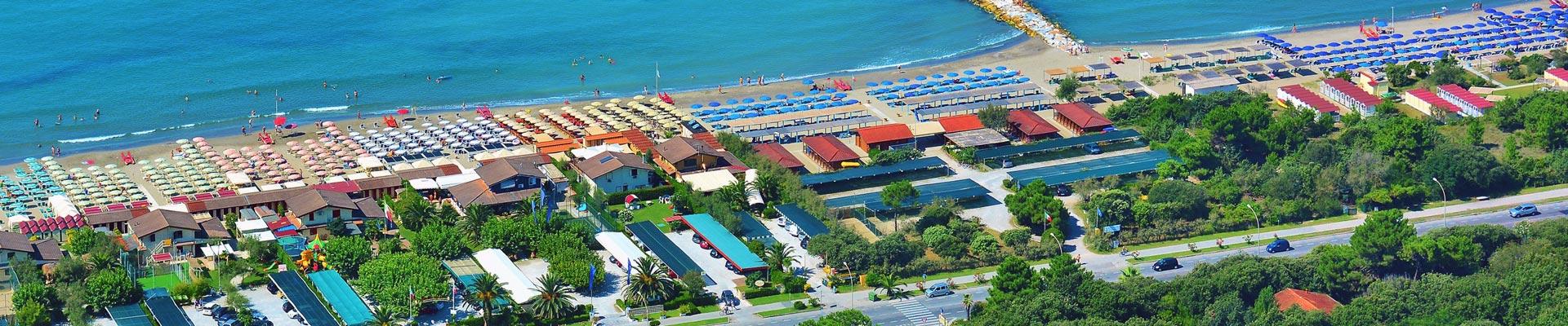 L'hotel si trova a Ronchi di Marin di Massa