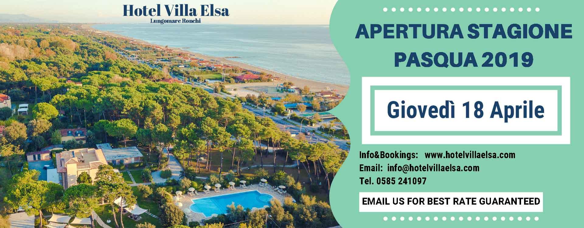 Apertura Pasqua 2019 Hotel Villa Elsa a Marina di Massa